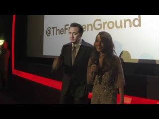 Vanessa Hudgens & Nicholas Cage presenting Frozen Ground